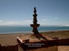 Tibet, Manarasovar Tal, Chiu Gompa (4570m): A view to the east from the monastery, Manasarovar Lake (Mapham Tso, 4588m; lake of enlightment - Bramha's Lake)