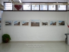 India, New Delhi: Hanging of the 58 exhibited photographs of Tibet at Art Heritage Gallery, Triveni Kala Sangam, 27.2.-18.3.2009; A & C - Landscapes & Architecture section mixed, entrance area