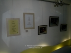 "Nepal, Central Region, Bagmati Zone, Kathmandu, Kamaladi, Gallery 32, inauguration of the exhibition ""Bells - Silence and Sounds"": Some of my works and poems of Manjul in the gallery"