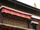 Tibet, Gyantse, Baiju Monastery (Pelkor Chöde): At the upper gallery of the assembly hall, above the rear part of the hall