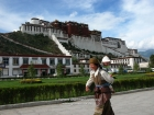 Tibet, Lhasa, Potala Square: Pilgrims on their Kora around the Palace