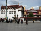 Tibet, Lhasa, Barkhor: Streetscene at the Barkhor Square in front of the Jokhang Temple