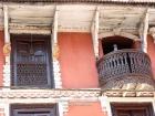 Nepal, Central Region, Bagmati Zone, Kathmandu, Sankhu: Detail of a once typical house of a rich Newar merchant