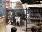 Nepal, Central Region, Bagmati Zone, Kathmandu, Swayambhounath: Glimpse of the Hariti (Ajima) Temple
