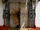 Nepal, Western Region, Dhaulagiri Zone, Lower Mustang, Muktinath: Door of a buddhist monastery