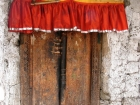 Nepal, Western Region, Dhaulagiri Zone, Lower Mustang, Jharkot: Door with amuletts