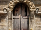 Nepal, Central Region, Bagmati Zone, Bhaktapur District: Changu Narayan Temple; Door with a talsa, the traditional Nepalses lock, at the Krishna Temple