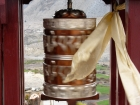 Nepal, Western Region, Dhaulagiri Zone, Lower Mustang, Jomson-Thini: Prayerwheel near Thini