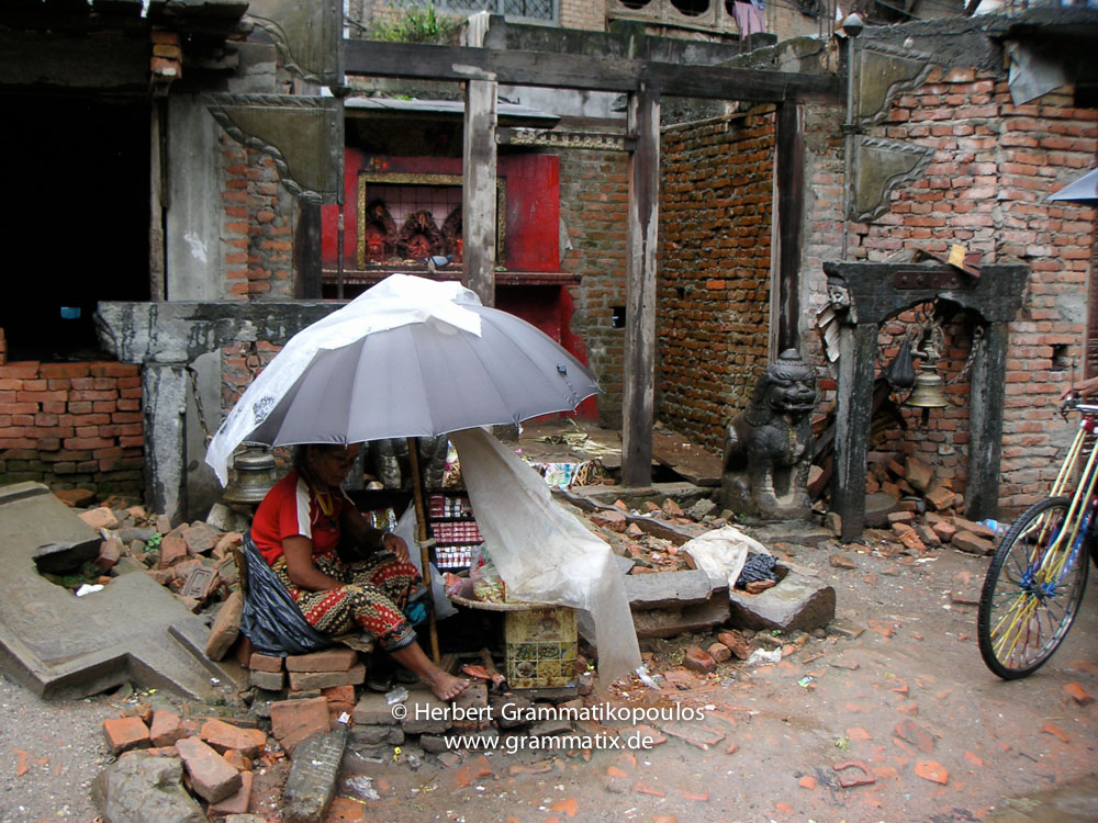 Nepal, Central Region, Bagmati Zone, Kathmandu, Indra Chowk: ...there is always a place for a little business