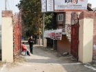 India, Kashmir, Srinagar, Khoj International Artists Workshop 2007: Entrance to the compound of the exhibition