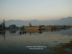 India, Kashmir, Srinagar: Houseboats on the Dal lake