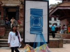 Nepal, Central Region, Bagmati Zone, Lalitpur, Patan, Sutra International Workshop at Patan Durbar Square: Sangee Shrestha's installation
