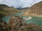 Tibet, Gyantse District: At the Simi La (4330m), with the artificial lake of a powerplant
