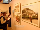 "India, New Delhi: Inauguration and hanging of the 58 exhibited photographs of ""Magical Tibet"" at Art Heritage Gallery, Triveni Kala Sangam, 27.2.-18.3.200; pics taken by Rahab Allana, grandson of the curator of the gallery, Ephrahim Alkazi"