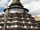 Tibet, Gyantse, Baiju Monastery (Pelkor Chöde), the Kumbum Stupa: View on the stupa