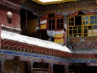 Tibet, Lhasa, Drepung Monastery: View on the roof of the Main Assembly Hall