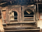 Nepal, Central Region, Bagmati Zone, Kathmandu, Naradevi, Yatkha Tole: Beautiful but neglected more than hundred years old woodcarved windows