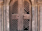 Nepal, Central Region, Bagmati Zone, Bhaktapur District, Bhaktapur, Durbar Square: Door with bothe talsa