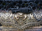 Nepal, Central Region, Bagmati Zone,Kathmandu, Swayambhou: Talsa at one of the niches of the great stupa