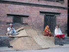 Nepal, Central Region, Bagmati Zone, Bhaktapur District, Bhaktapur: Relaxing after hard work at the Dattatraya Square