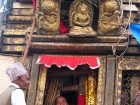 Nepal, Central Region, Bagmati Zone, Lalitpur, Patan, Lagankhel: Priests in the Rato Machhindranath chariot, thr God of rain