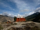 Nepal, Western Region, Dhaulagiri Zone, Lower Mustang, Thini: The three chörten of the Dhumpha Monastery near Thini (Jomson)