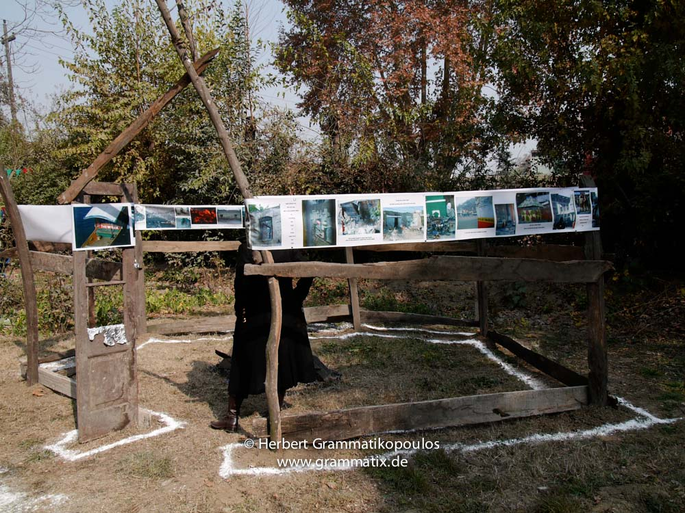 "India, Kashmir, Srinagar, Khoj International Artists Workshop 2007: Installation ""Fragile Hope"" of H.G. (Greece)"