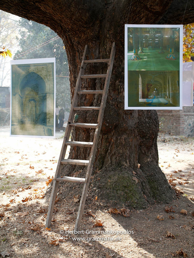 India, Kashmir, Srinagar, Khoj International Artists Workshop 2007: Installation and Photography works by Tooraj Khamenehzadeh, Iran