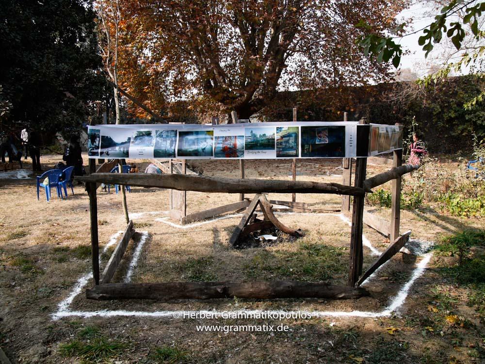 "India, Kashmir, Srinagar, Khoj International Artists Workshop 2007: Installation ""Fragile Hope"" of H.G. (Greece)"