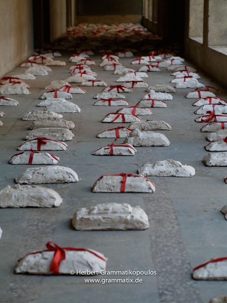 India, Kashmir, Srinagar, Khoj International Artists Workshop 2007: Ram Bali's installation