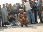 India, Kashmir, Srinagar, Lal Chowk: Performance of Nikil Chopra of Khoj Kasheer 2007