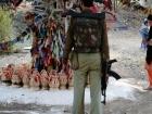 India, Kashmir, Srinagar, Khoj International Artists Workshop 2007: Armed Police guarding the installations, here at Wasim Wani's