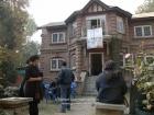 India, Kashmir, Srinagar, Rainawari: Stairs to Showkat Kathjoo's (Khoj Kasheer 2007 organizer) atelier