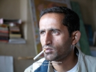 India, Kashmir, Srinagar, Rainawari: Showkat Kathjoo (Khoj Kasheer 2007 organizer) in his atelier