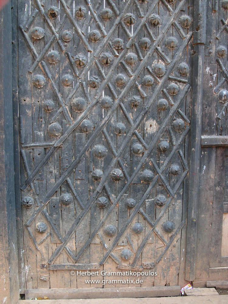 Nepal, Western Region, Lumbini Zone, Palpa District, Tansen: The gate of the Tansen Durbar