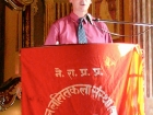Nepal, Central Region, Bagmati Zone, Kathmandu, Bal Mandir, Khulla Dhoka exhibition, inauguration ceremony: John Fry, Country Director of the British Council, main sponsor of the book documentation of the project, addresses to the public