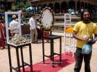 Nepal, Central Region, Bagmati Zone, Lalitpur, Patan, Sutra International Workshop at Patan Durbar Square: Aruna Krishanta from Sri Lanka with his installation