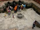 Nepal, Central Region, Bagmati Zone, Lalitpur, Patan, Sutra International Workshop at Patan Durbar Square: Gopal Kalapremi Shrestha's installation