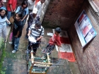 Nepal, Central Region, Bagmati Zone, Lalitpur, Patan, Sutra International Workshop at Patan Durbar Square: Sujan Chitrakar's installation