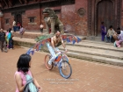 Nepal, Central Region, Bagmati Zone, Lalitpur, Patan, Sutra International Workshop at Patan Durbar Square: Masum Chisty's from Bangladesh on his mobile installation